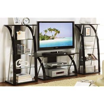 Amazon Com Pcs Modern Tv Stand Unit Living Room Furniture