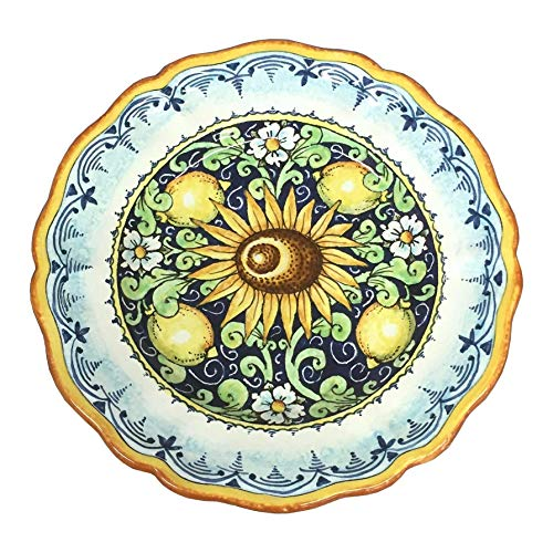 CERAMICHE D'ARTE PARRINI - Italian Ceramic Art Pottery Serving Plate Dish Food Bowl Hand Painted Made in ITALY - Motif Pottery