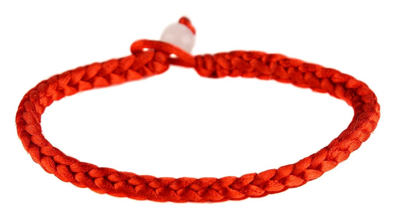 Fabuleux Bracelet rouge tissu tresse fin kabale: Amazon.fr: Bijoux BW61