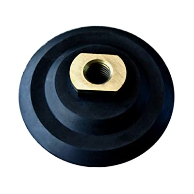 "Rubber Backing Pad Black Rigid Backer Pads for Diamond Polishing Pads 5/8""-11 Hook and Loop Backing Pad (4 inch): Industrial & Scientific"