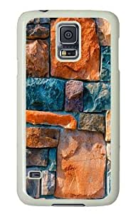 Generic Polycarbonate White Case Cover for Samsung Galaxy S5 Abstract Stone Wall