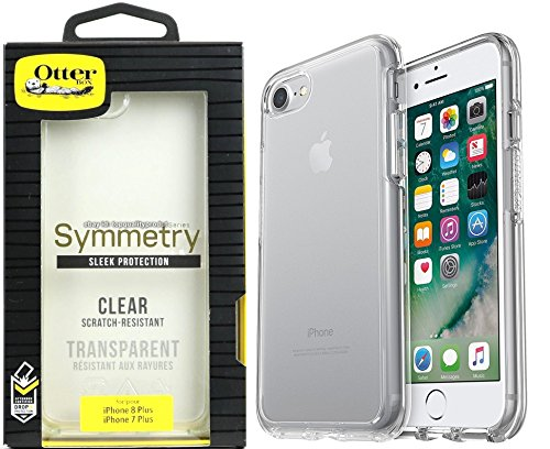 OtterBox SYMMETRY CLEAR SERIES Clear Case for iPhone 8 +/iPhone 7 Plus - (ONLY 5.5inch) - Retail Packaging With - Stylus Pen (Certified Refurbished) by OtterBox