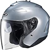 HJC IS-33 II Open-Face Motorcycle Helmet (Silver, Medium)