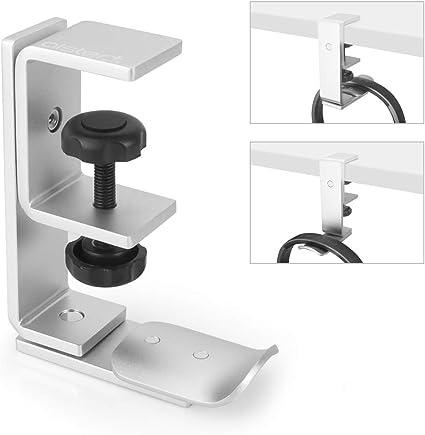 Holder Headset Headphone Hanger Stand Under Desk Hook Aluminum Storage Rotated