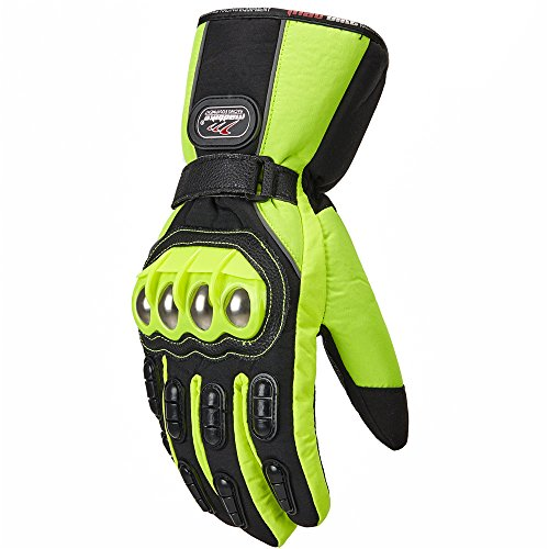 Green Motorcycle Gloves - 7