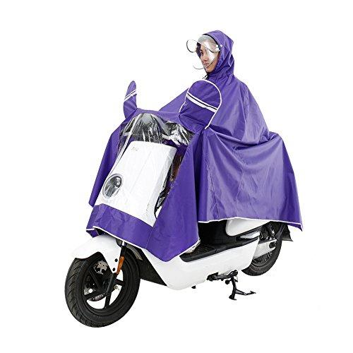 Uomini L'impermeabile Mascherano Poncho Impermeabile Per Pioggia Elettrico Wupo Purple Si Xxxxl Moto Donne Neve Grande Aumentare E Doppio tqXzn7dw