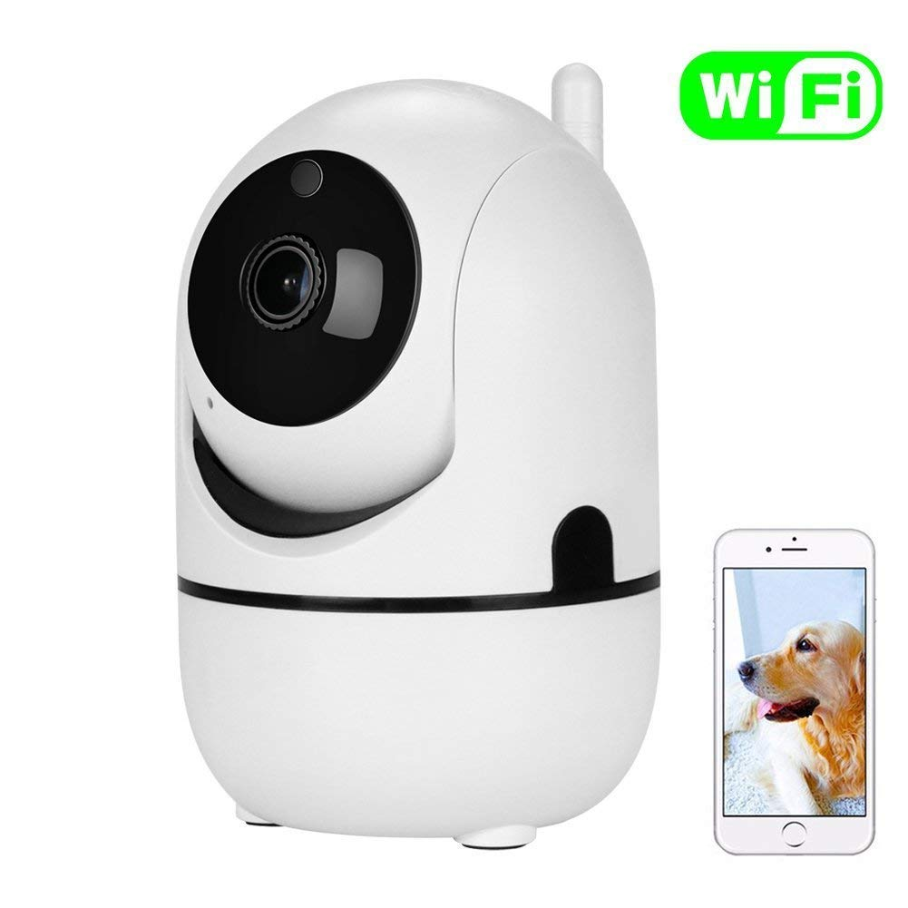 Tiscen Dome Camera 1080p WiFi Wireless IP Indoor Smart Home Security Surveillance Camera System Pan/Tilt/Zoom with Night Vision and 2 Way Audio for Baby/Elder/Pet/Nanny Monitor