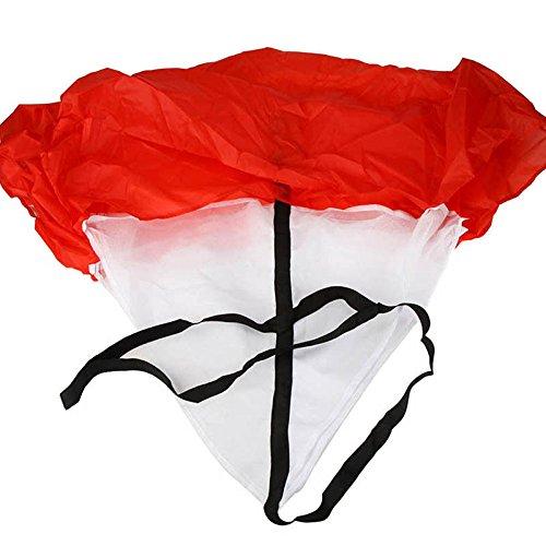 FidgetFidget Training Tool Hot 56'' Speed Resistance Parachute Running Chute Football Exercise Red by FidgetFidget