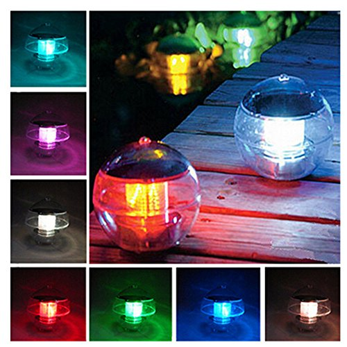 Wholesale discoGoods Upgrade Solar Power LED Color Changing Globe Night Light Lamp Waterproof Floating Light For Swimming Pool Pond Fountain Garden Party Decor free shipping