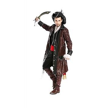 less is more Hombre Disfraz de Piratas del Caribe 4 Pirata Carnaval Disfraz Pirata Jack Sparrow
