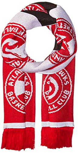 NBA Atlanta Hawks Unisex Repeating Logo Scarf, Red, One Size (Atlanta Tassels)