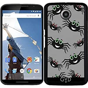 Funda para Motorola Nexus 6 - Sonriendo Negro Araña by zorg