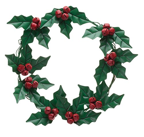 Fox Valley Traders Holly and Berries Metal Wreath by Maple Lane ()
