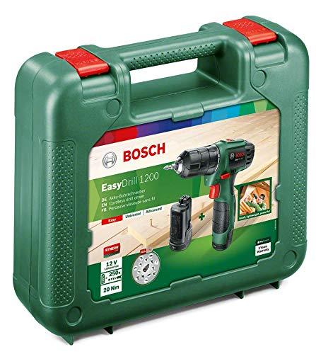 Bosch Home and Garden Bosch easydrill 1200/Bohrmaschine einfach Elektrische Kabellos 12/V//1,5/A // 06039A210B 12 V Schwarz Gr/ün
