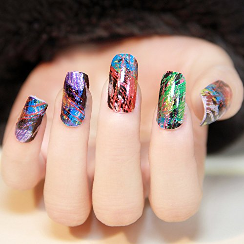 Warm Girl Starry Sky Stars Nail Art Stickers Tips Wraps Foil Transfer Adhesive Glitters Acrylic DIY Decoration