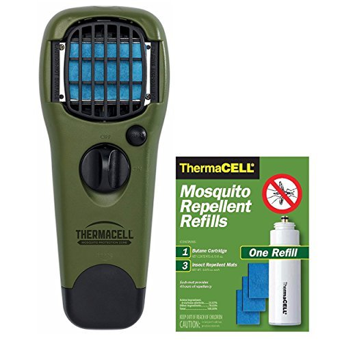 Thermacell MR 300G Portable Mosquito Repeller, Olive with Free Refill, Green ()