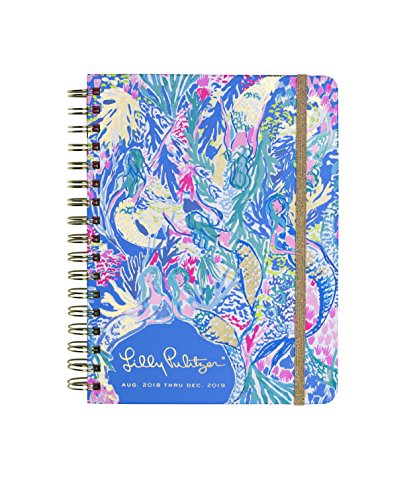Lilly Pulitzer 17 Month Large Agenda, Personal Planner, 2018-2019 (Mermaid Cove) by Lilly Pulitzer (Image #1)'