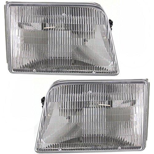 - Headlight Set Of 2 For Ranger 93-97 Right and Left Side Assembly Halogen