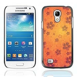 Graphic4You Retro Orange Flower Design Hard Case Cover for Samsung Galaxy S4 Mini