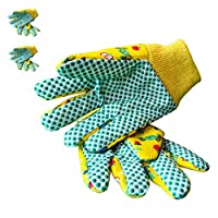 Kids Garden Gloves – PROMEDIX – 3-6 Years Old Children Gardening Gloves, 2- Pair Pack