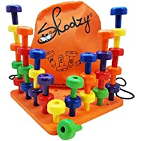 Skoolzy Peg Board Set - Montessori Toys for Toddlers and...
