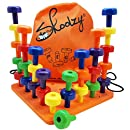 Skoolzy Peg Board Set - Montessori Occupational Therapy Fine Motor Skills Toy for Toddlers and Preschoolers. 30 Pegs in Board for Color Recognition Sorting Counting - 30pg Activity Pegboard Download