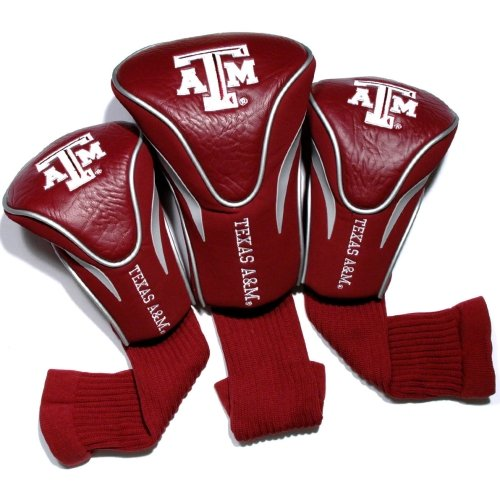 NCAA Texas A&M Aggies 3 Pack Contour Head - Texas A&m Aggies Golf