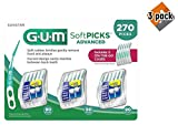 Sunstar 6505A Gum Soft-Picks Advanced (Pack of 270), 3 Pack