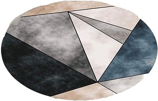 XJKLFJSIU-Rug Moqueta Geométrica Redonda Moqueta para Decoración del Hogar Moqueta para Escalera De Pasillo, 140 * 140Cm_A4: Amazon.es: Hogar