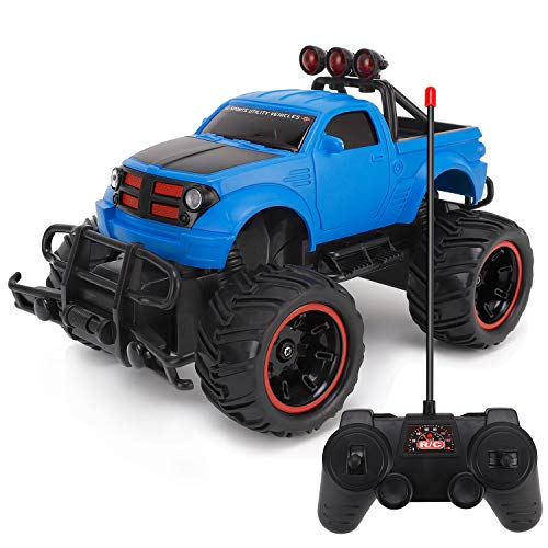 Liberty Imports R/C Monster Pickup Truck Remote Control RTR Electric Vehicle Off-Road Race Car 27MHZ (1:20 - Truck Blue Rc