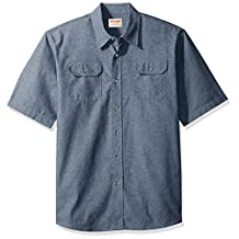 Wrangler mens Authentics Short Sleeve Classic Twill Shirt