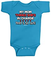 Threadrock Unisex Baby My Mom Thinks She's in Charge That's so Cute Bodysuit
