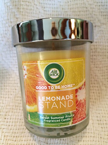 Freshener Fruit Summer Air (Air Wick Good To Be Home Scented Candle Air Freshener, Lemonade Stand Sweet Summer Fruits, 5 Ounce)