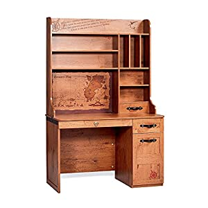 Cilek Pirate Desk with Hutch, Brown