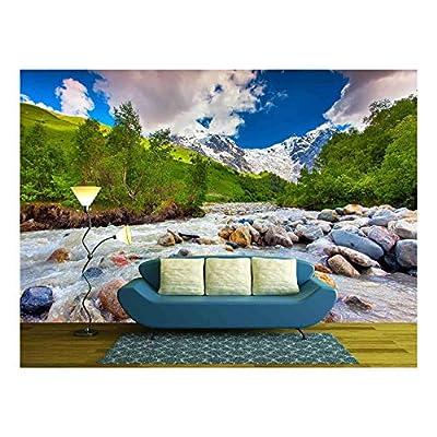 Stunning Creative Design, Made to Last, Beautiful Landscape with Mountain Stream Georgia Svaneti
