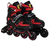 Ferrari Adjustable Inline Skate Roller Skating Black Size M