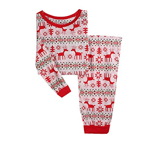 Lover-Beauty Men's Moose Thermal Top Pant Family Matching Pajamas Size XXL (Striped Moose)