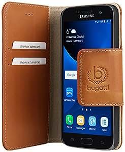 Bugatti Amsterdam Sand Booklet Cover Case for Samsung Galaxy S7