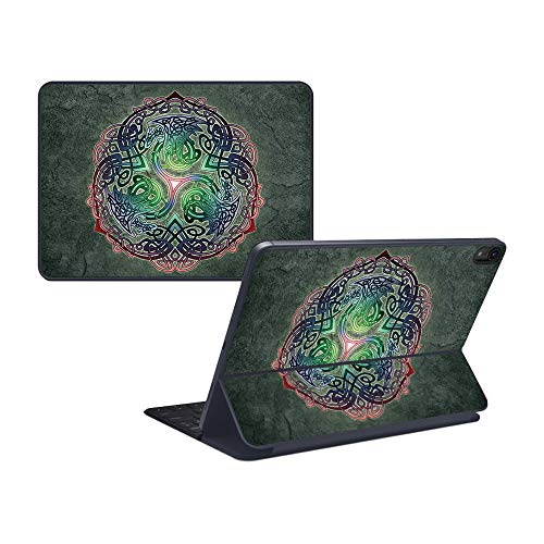 "MightySkins Skin Compatible with Apple iPad Pro Smart Keyboard 12.9"" - Celtic Dragon 