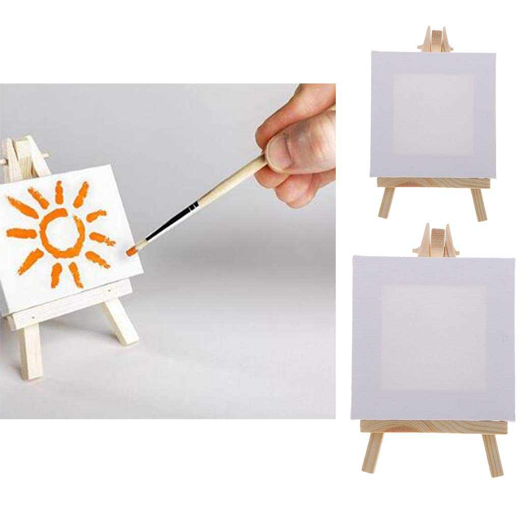 White Mini Canvas Wood Easel For Wedding Table Numbers Painting