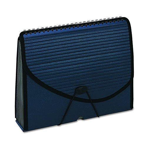 Pendaflex 01119 13-Pocket Expanding Spiral File, Letter, Foam Poly, Navy Blue ()