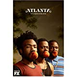 """Atlanta Brian Tyree Henry as Alfred """"Paper Boi"""" Miles, Donald Glover as Earnest """"Earn"""" Marks and Lakeith Stansfield as Darius Atlanta peaches shot with FX logo 8 x 10 Inch Photo"""