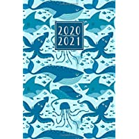 2020 - 2021: 18 Month Diary Weekly Planner Journal - Week to View on 2 Pages A5 | Horizontal Layout | Blue Ocean Sea…