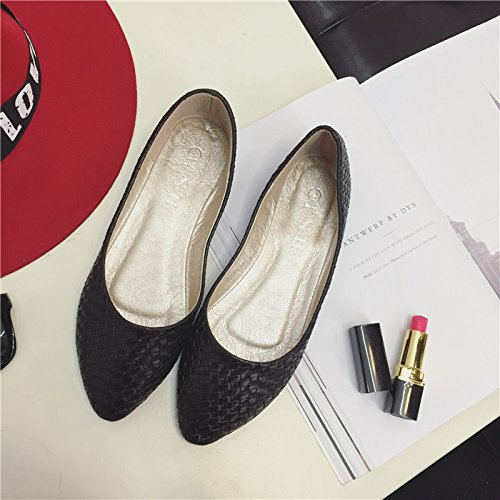 black 41 points gift shoes shoe port single WYMBS braided women retro best light with female New flat shoe flat UxBRBqHwT