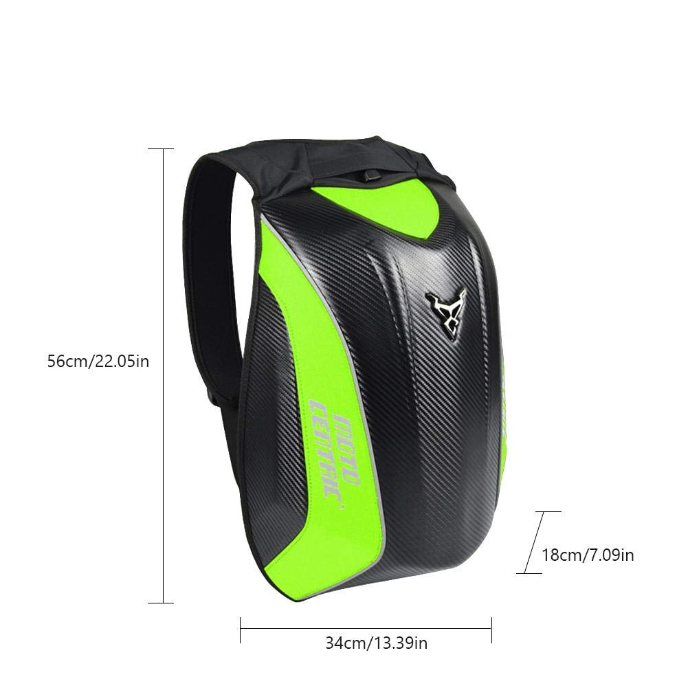 Amazon.com: Greencolorful Motorcycle Backpack,Carbon Fiber ...