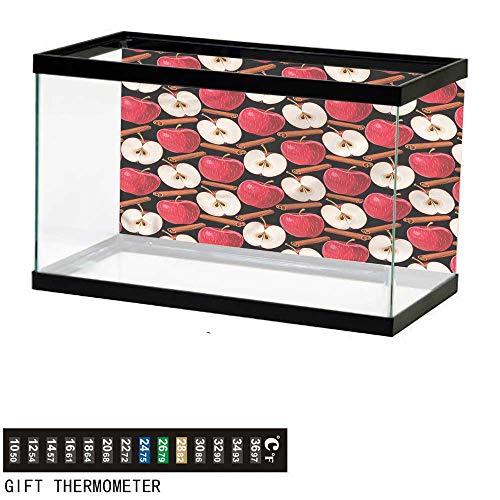 (bybyhome Fish Tank Backdrop Apple,Cinnamon Sticks Fruits,Aquarium Background,36
