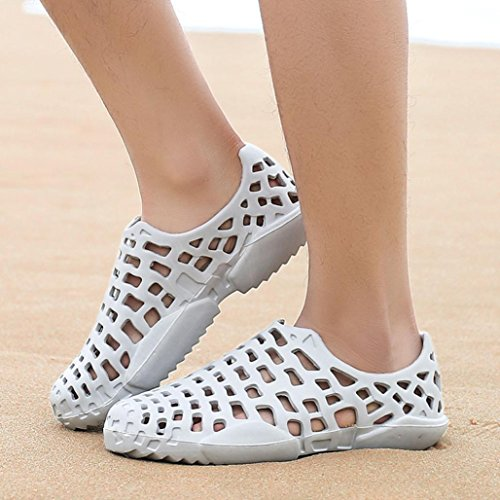 Sport Water Casual Shoes Outdoor Women Beach Water Shoes Sandals Drying Gray Sandals Walking Men Hollow Saltwater out Shower Quick Unisex Slip Non SUEKQ Pool Shoes Aqua Couple w104BB