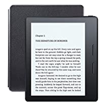 """Kindle Oasis E-reader with Leather Charging Cover - Black, 6"""" High-Resolution Display (300 ppi), Wi-Fi - Includes Special Offers"""