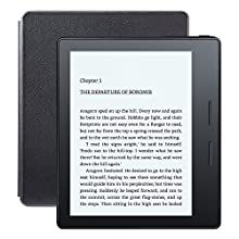 "Kindle Oasis E-reader with Leather Charging Cover - Black, 6"" High-Resolution Display (300 ppi), Wi-Fi - Includes Special Offers (Previous Generation - 8th)"