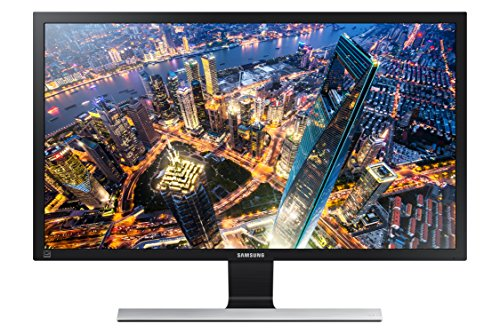 Samsung 28 inch UE570 4K monitor for gaming (LU28E570DS/ZA)- 1ms gaming monitor, UHD, Freesync, split screen, HDMI (Best Size For 4k Computer Monitor)